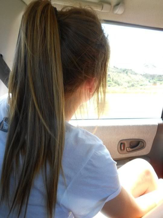 High ponytails.