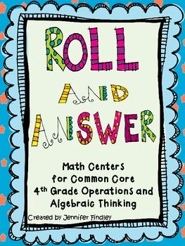 7 Simple to Use, Self Checking Math Centers for Common Core (4th Grade-Operations and Algebraic Thinking)