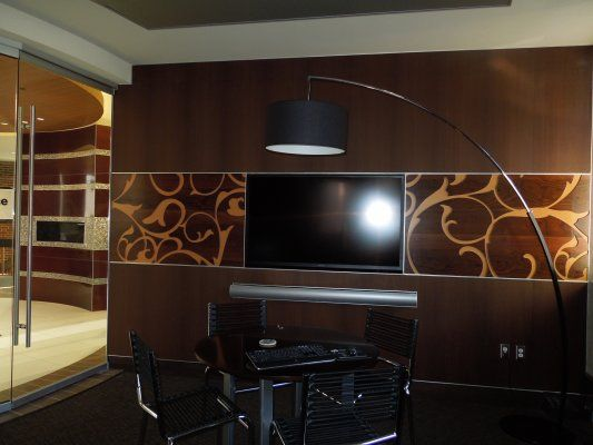 In The Conference Room We Used Treefrog Laminate For The Cabinets And Put  1/8. Stainless Steel CountertopsConference ...