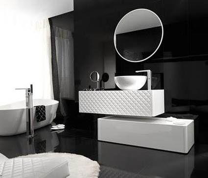Como Decorar un Baño en Color Negro - Para Más Información Ingresa en: http://fotosdecasasmodernas.com/como-decorar-un-bano-en-color-negro/