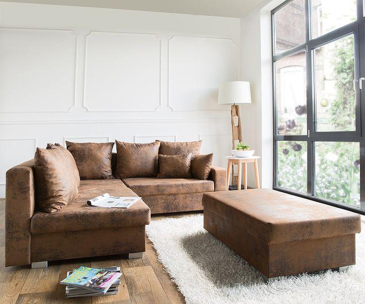 Billig sofa braun