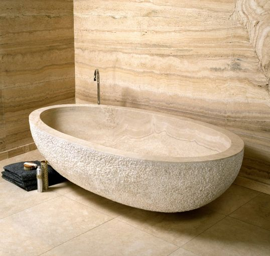 9 best a limestone bathroom images on pinterest showers for Limestone tub