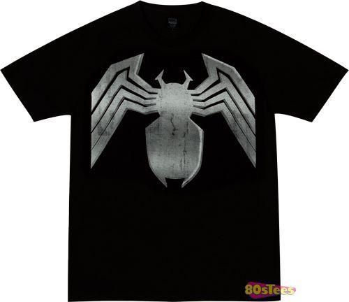Distressed Venom T-Shirt - http://www.theshirtlist.com/distressed-venom-t-shirt/
