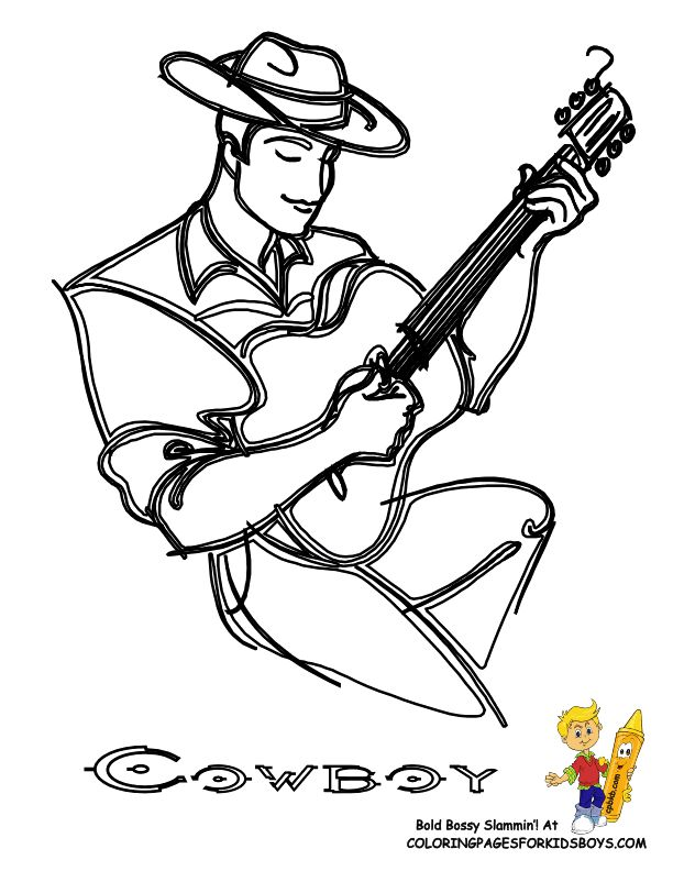 10 best Cool Cowboy Coloring Pages images on Pinterest | Cowboys ...