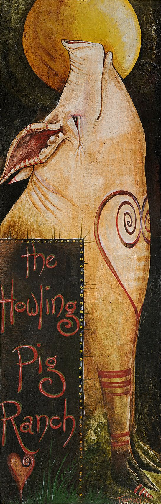 The Howling Pig Ranch by Shanna Trumbly~ 7 x 19.75 Small Canvas Giclee Print
