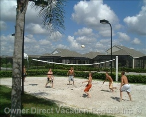 Enjoy the sand volleyball court when staying at the Windsor Palms Resort in Kissimmee, FL