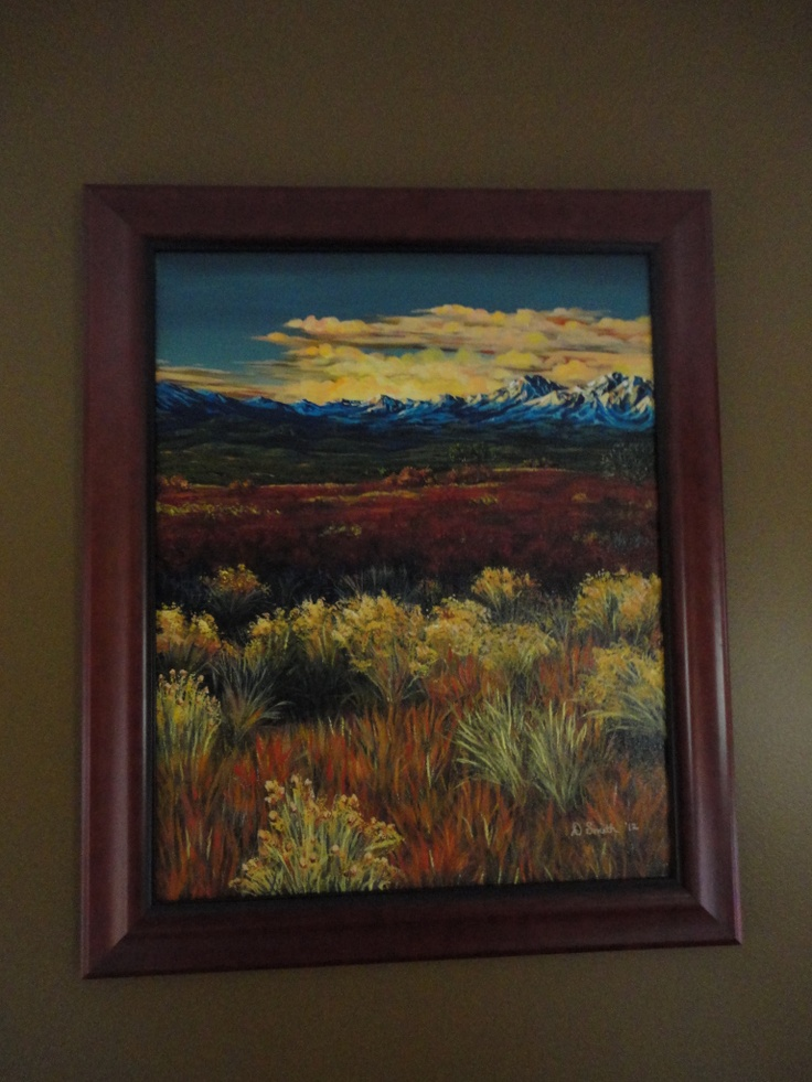 Northern California picture I finished a few weeks ago. Hanging in the Master Bedroom as of today.