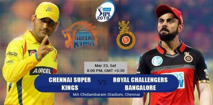 Ipl 2019 Csk Vs Rcb Hd Wallpaper 2019 Hd Wallpaper By Www Hdwallpaper Co Ipl Chennai Super Kings Royal Challengers Bangalore