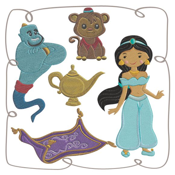 Princess Jaslin and the Magic Carpet: Embroidershoppe