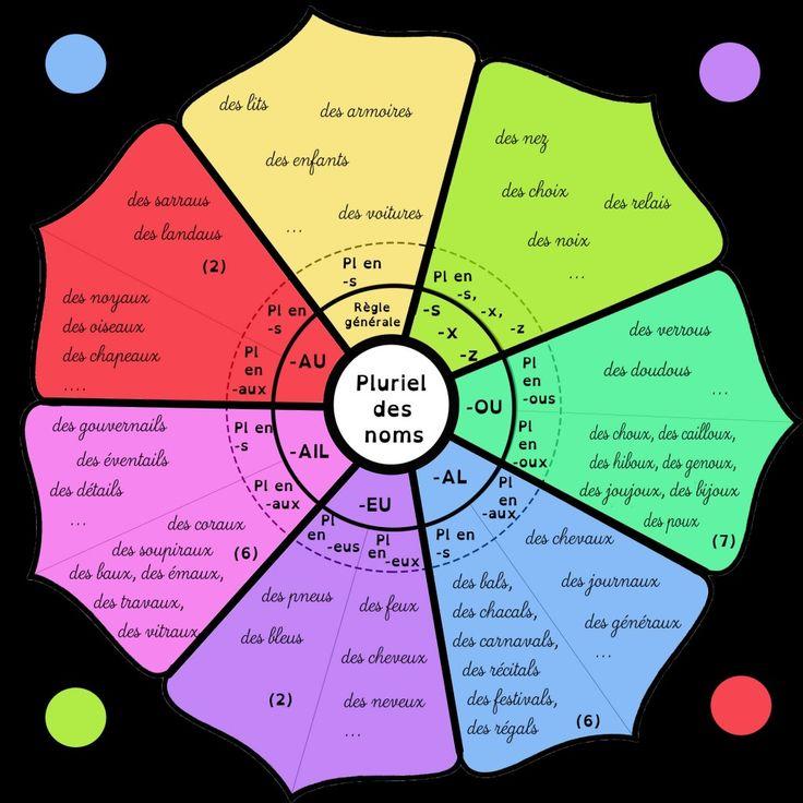 Le pluriel des noms mandala. Le pluriel des noms simples peut se synthétiser sous forme de mandala. On le complétera après avoir observé différents cas,...