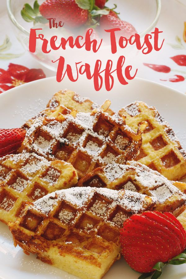 "Easy French Toast Waffles | ""Making French toast in your waffle iron combines the best of both worlds. You get all the custardy richness of French toast plus waffle's signature crispy ridges. All the better to hold more maple syrup."""