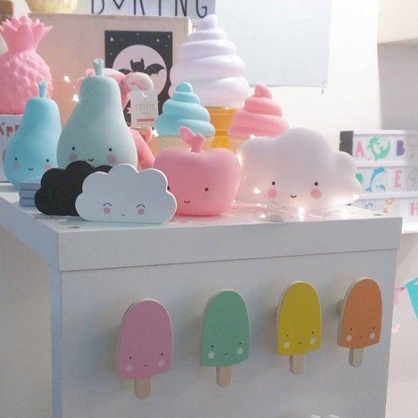 #Kapstok #fruit #ijsjes #kinderkamer - #ALittleLovelyCompany - #coathooks #fruity #icecreams #kidsroom - #littlethingz
