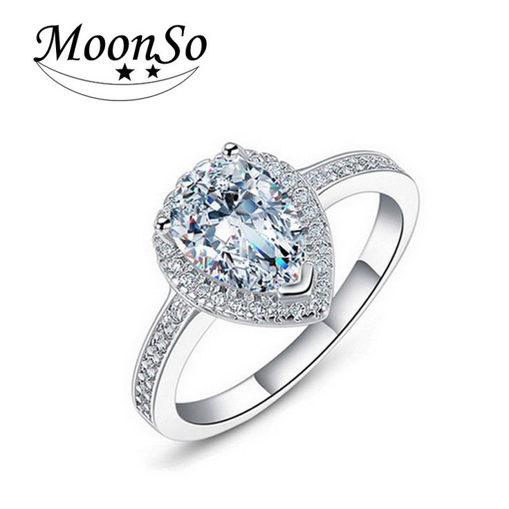 White 6 three colours Engagement O Finger anel aneis de diamante Real 925 Sterling Silver CZ Diamond Zircon the Rings for Women T0603