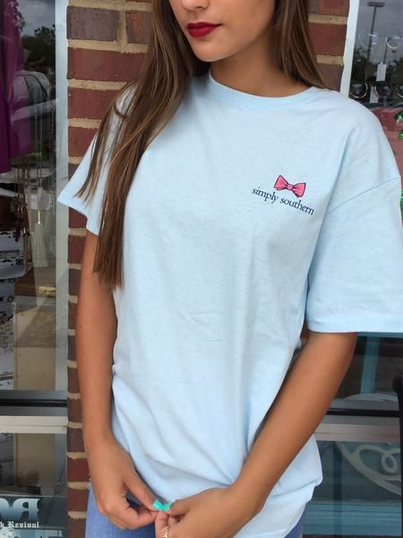 """Simply Southern """"Jeep Hair"""" Tee - Blue"""