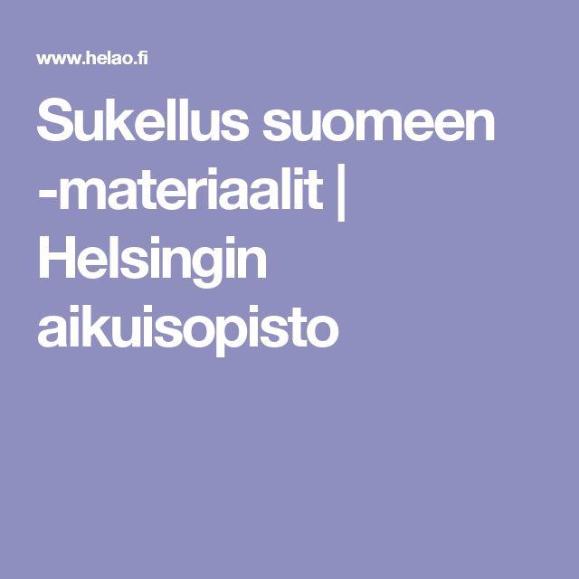 Sukellus suomeen -materiaalit | Helsingin aikuisopisto