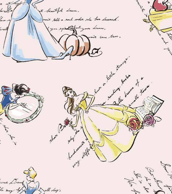 Licensed Cotton Fabric-Fashionable Princess , , hi-res