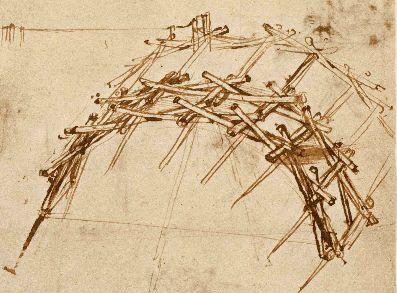 Da Vinci self supporting bridge