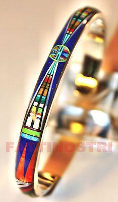 Indianerschmuck Armreif ZUNI Design Silber BRACCIALE ARGENTO TURCHESE INDIANO