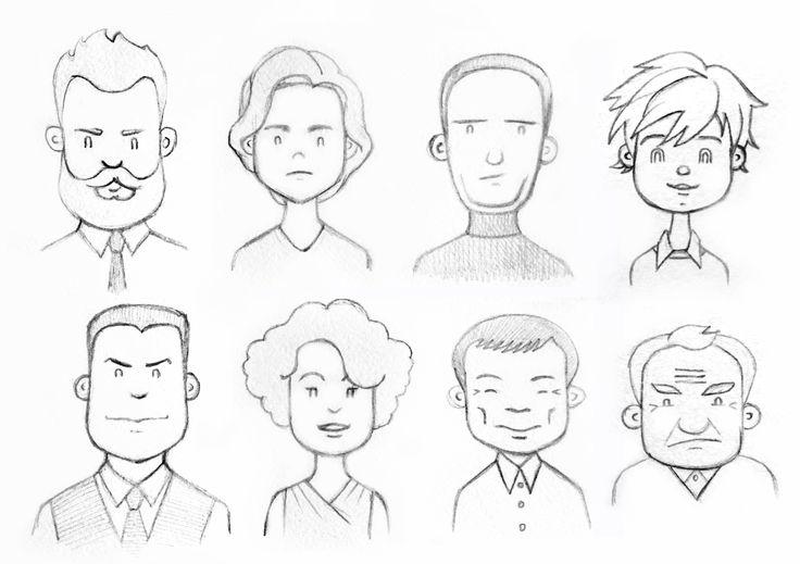 Набросок стиля персонажей  для генератора автаров