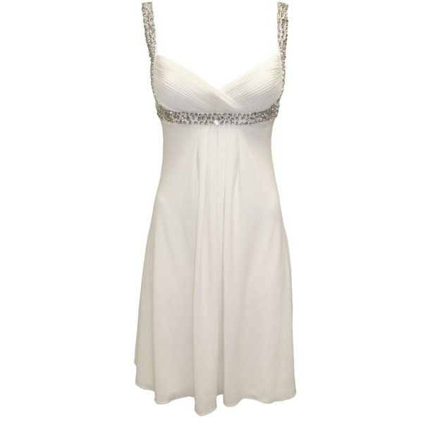 Lustre Beaded Strap Dress ❤ liked on Polyvore