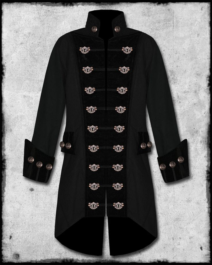 pirate wedding  | keyhole pirate coat velvet trim amazing new open fronted mens pirate ...
