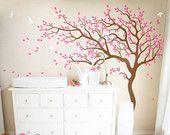 Baum Wand Aufkleber riesiger Baum Wand Aufkleber Kinderzimmer Wand Dekor große Wand Wandbild Kinderspielzimmer Wandgestaltung mit niedlichen Vögeln und Blätter - 047