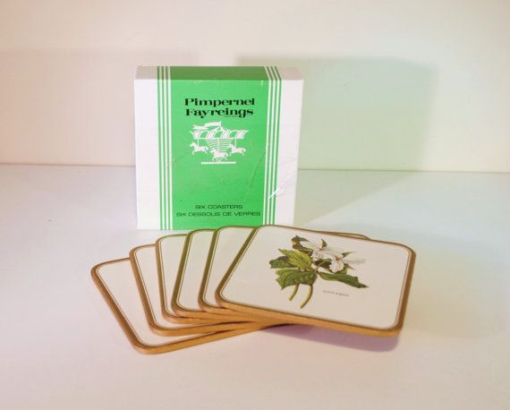 Vintage Pimpernel Coasters Fayreigns Set of 6 by RetroEnvy21