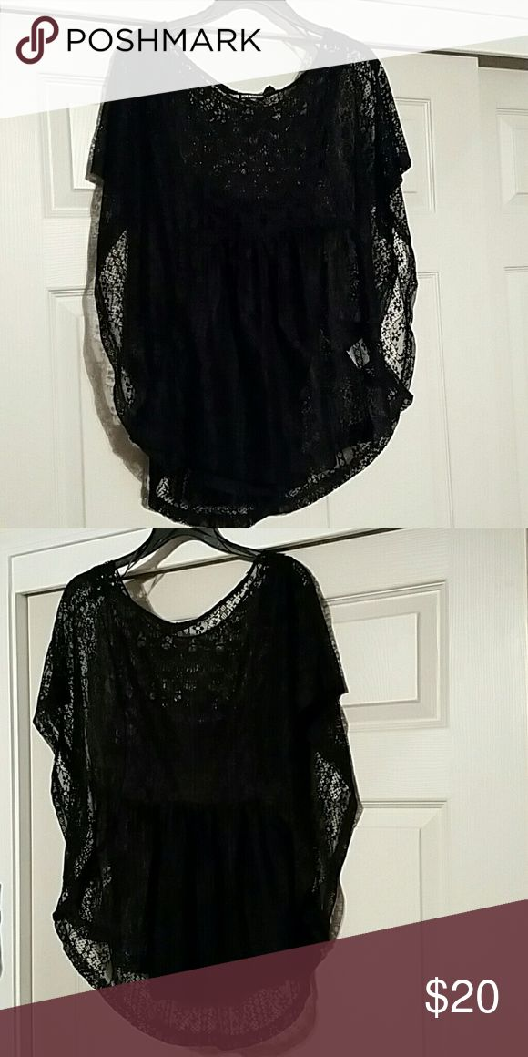 By Joe Boxer 100% polyester lace gorgeous Very beautiful blouse dress it up dress or dress it down you'll just love this blouse 2 piece set Joe Boxer Tops Blouses