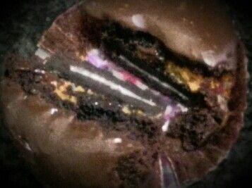 Caramel, oreas and brownies