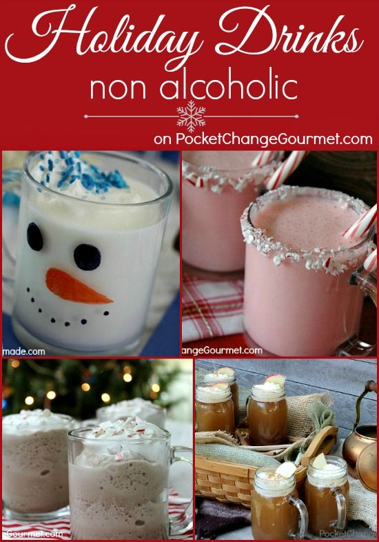 Non Alcoholic Holiday Drinks | Recipes on PocketChangeGourmet.com