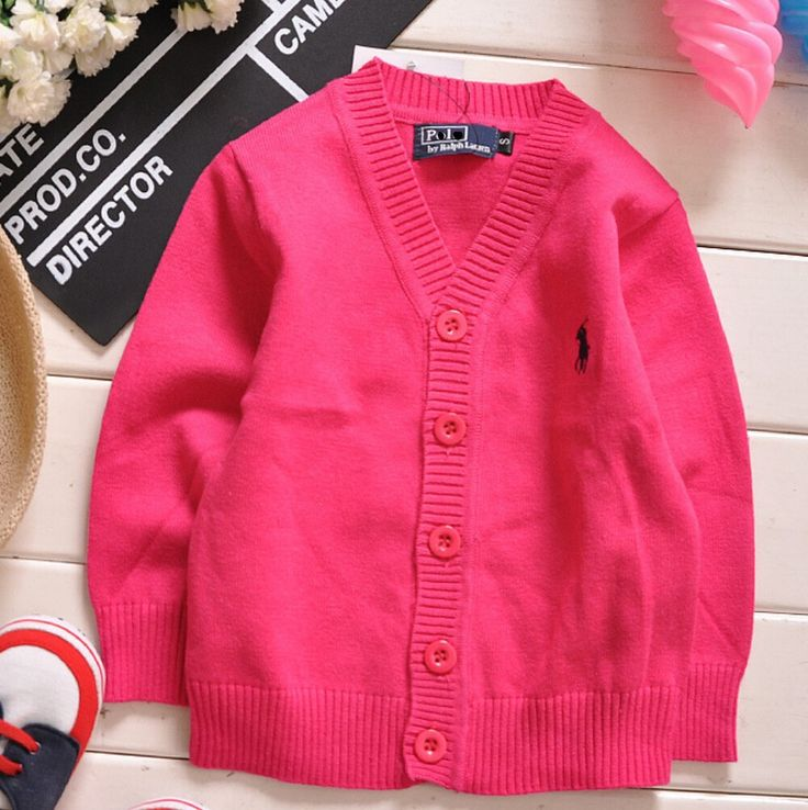 Spring And Autumn Children Sweater Cardigan With Button 7 color Boys'  And Girl's Sweaters free shipping PO-02