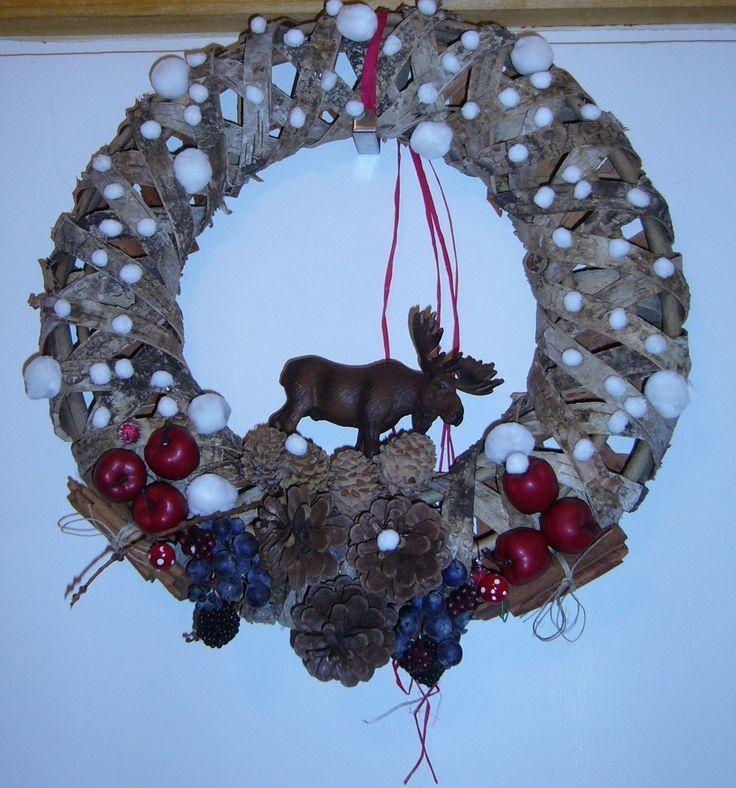 Christmas door wreath-DIY