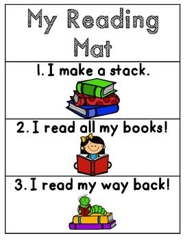 This is a cover for a reading mat if you do Lucy Calkins Units of Study for reading. Enjoy the freebie!