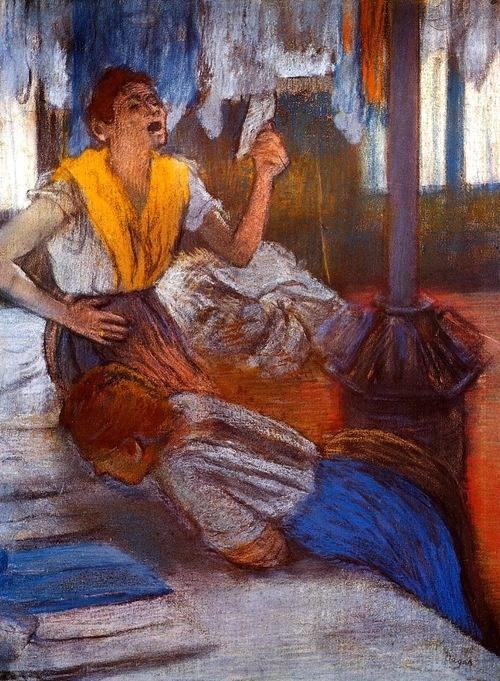 In a laundry Edgar Degas c 1884