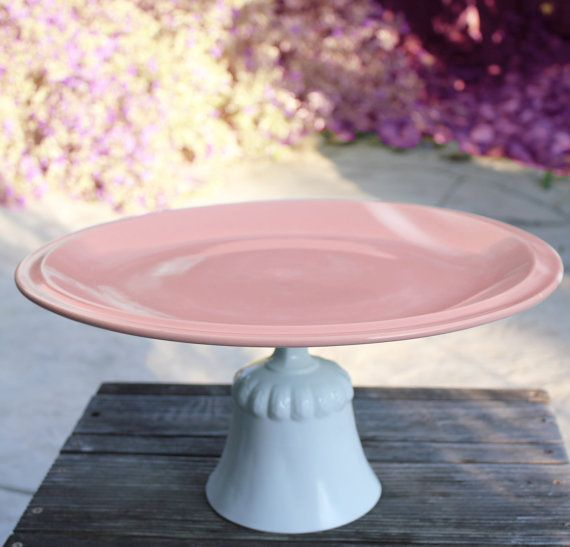 """16"""" Pastel Pink Cake Stand for #pastelWeddings by The Roche Studio, www.TheRocheStudio.com #TheRocheStudio"""