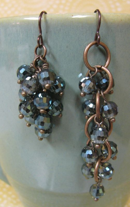 How to make cluster earrings - back to basics. #Wire #Jewelry #Tutorial