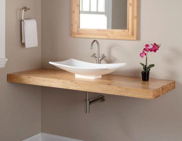 17 fascinantes diseños de mini lavabos para baños pequeños # Ideas #interio … baños