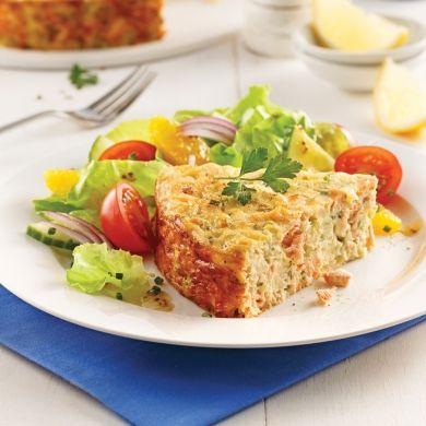 Pâté au saumon sans croûte - Soupers de semaine - Recettes 5-15 - Recettes express 5/15 - Pratico Pratique