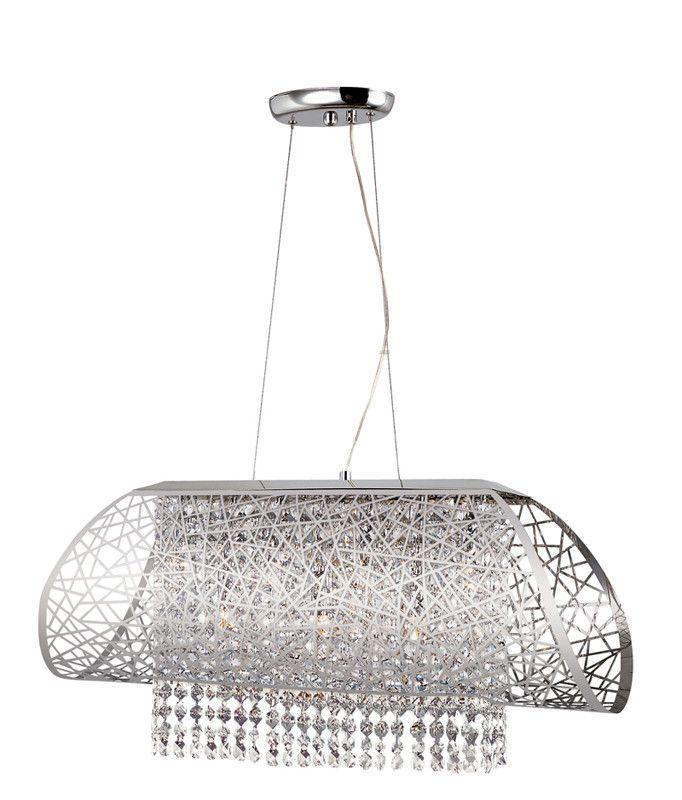 Trans Globe Lighting MDN 1129 Contemporary Crystal 7 Light Pendant