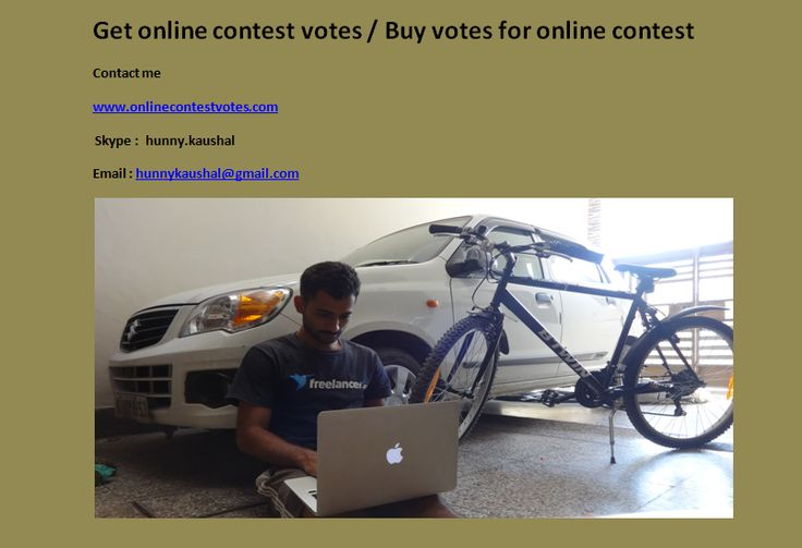 Buy sweepstakes votes / Buy wavo votes / Buy online contest votes / Buy votes for online contest / Buy facebook votes / Buy online votes  http://www.onlinecontestvotes.com/myservice/