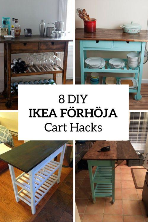8 Quick DIY IKEA FÖRHÖJA Kitchen Cart Hacks   Shelterness