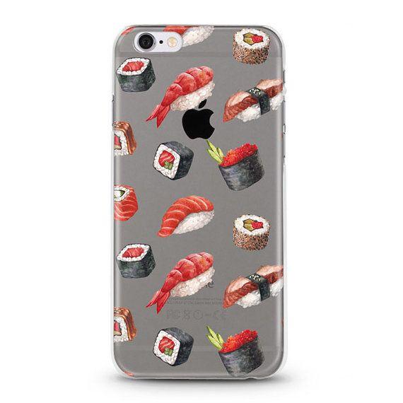 Sushi iPhone 7 Case, iPhone 6 case, iphone 6s case, iPhone 6s plus transparent clear case