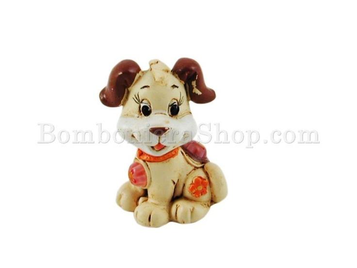 Animaletti in resina decorata a rilievo per fai da te della bomboniera