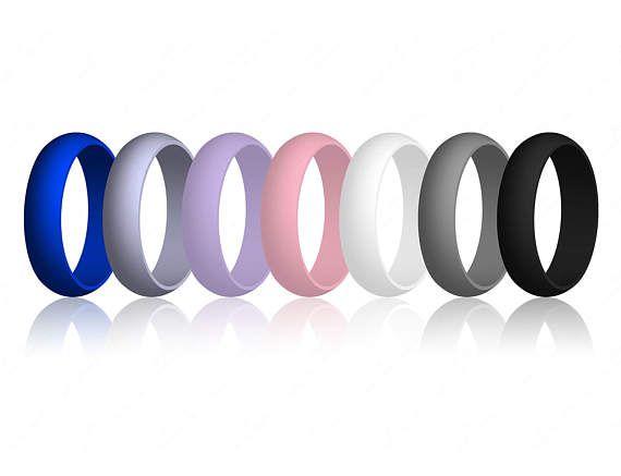 Vrouwen siliconen bruiloft verlovingsring Band beste kwaliteit flexibele hypoallergene schattig atletische sieraden cadeau voor haar (geen Cheesy huismerk)