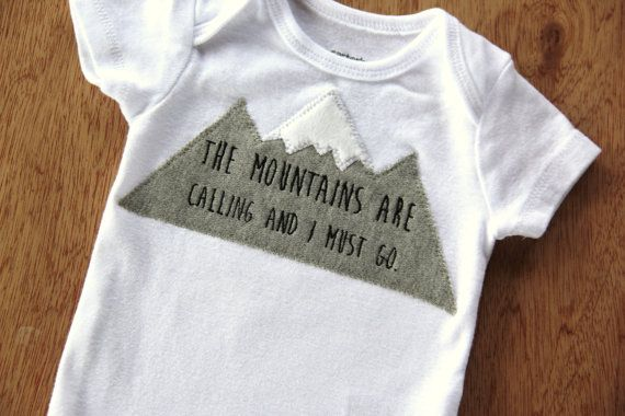 The Mountains are Calling Shirt, Mountain Bodysuit, Baby Mountain Shirt, Colorado Baby, Ski Baby, Adventure Baby