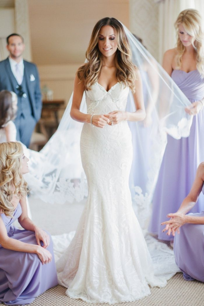 099f2a01b9fc4 Elegant Mermaid Spaghetti Strapless Bridal Gown Lace Backless Trumpet Court  Train Wedding Dress