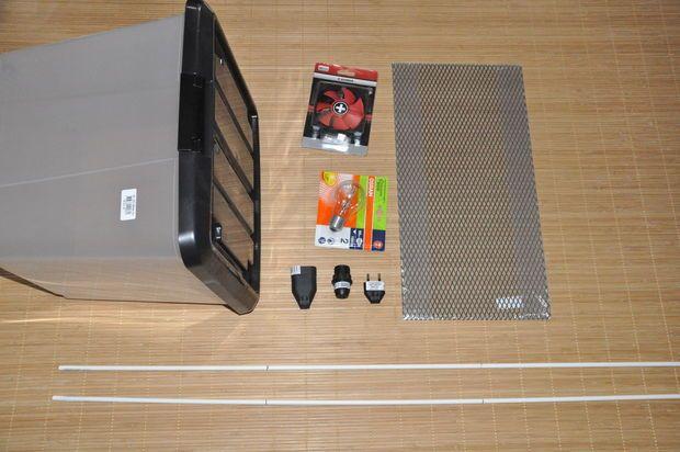 plastic box jerky/biltong maker and dehydrator.