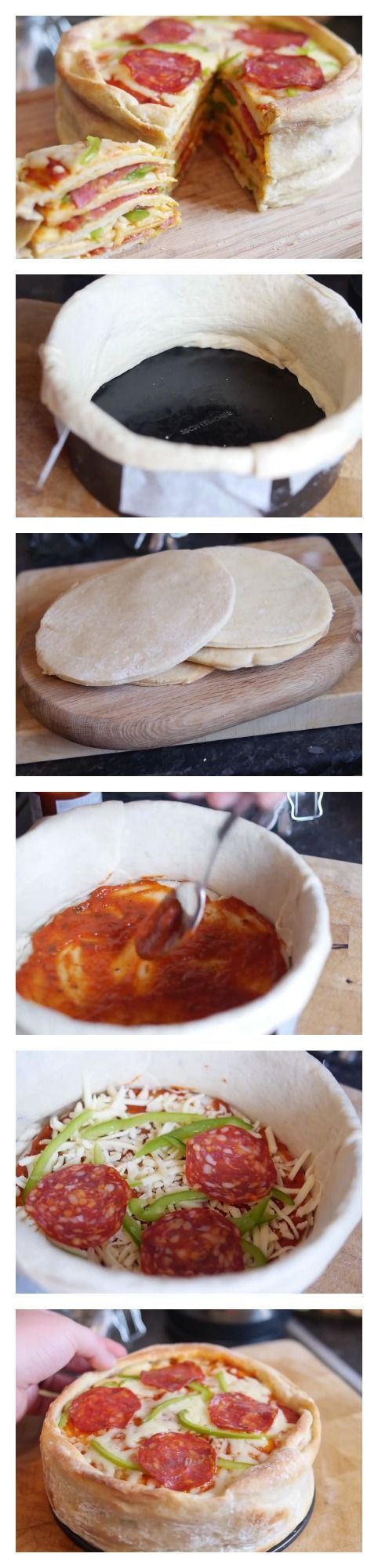 Learn how to make a #homemade #pizza #cake!