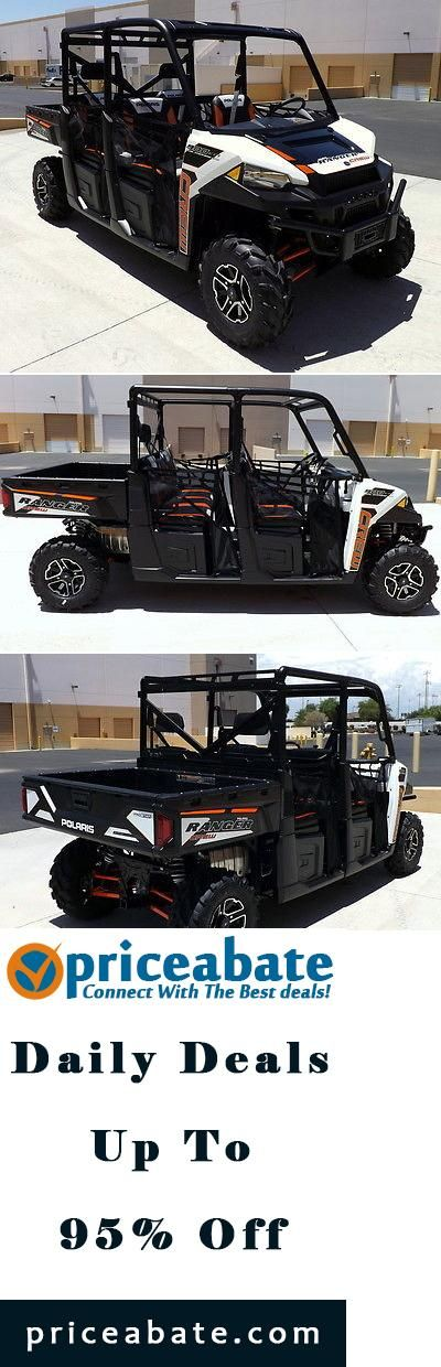 #priceabatedeals NEW 2015 Polaris Ranger Crew 900 EPS White Lightning 5-Seater 60hp AWD NO FEES! - Buy This Item Now For Only: $16299.0