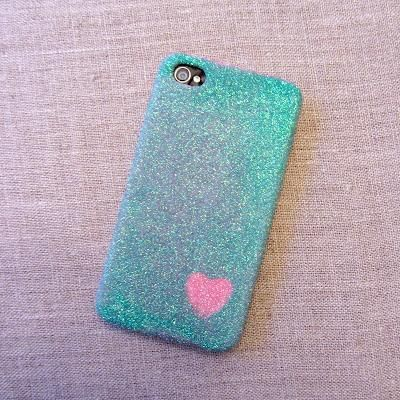 DIY Iphone / Ipad Case : DIY: Glitter Cell Phone Case